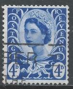 Wales & Monmouthshire 1968. Scott #8 (U) Queen Elizabeth II & Welsh Dragon - Emissions Régionales