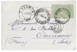 ROUMANIE - 1902 - CARTE POSTALE De DURAU Avec OBLITERATION SPECIALE Du MONASTERE => CARCASSONNE - Marcofilia