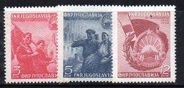 XP2879 - YUGOSLAVIA 1950 , Unificato N.  541/543  *    Autostrada Belgrado Zagabria - 1945-1992 Repubblica Socialista Federale Di Jugoslavia