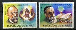 Rep. Tchad ** N° 322/323 - Lauréats Du Prix Nobel (Robert Koch, Anatole France) - Tchad (1960-...)