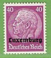 MiNr.12 Xx Deutschland Besetzte Gebiete II.WK Luxemburg - Besetzungen 1938-45