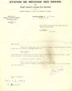 13 PORT SAINT LOUIS DU RHONE LETTRE STATION DE SECHAGE DES GRAINS 1965 BOUCHES DU RHONE - Documentos Antiguos