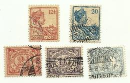 1922 - India Olandese 132 + 135/38 Ordinaria C4496, - Indes Néerlandaises