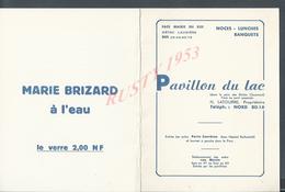 MENU PARIS RESTAURANT PAVILLON DU LAC PARC DES BUTTES CHAUMONT + PLAN : - Menus