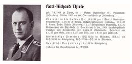 Personalkarte Wehrmacht - Karl Thiele In Insterburg Und Helmut Seyferth In Oschersleben , Thorn , NSDAP , Arzt !!! - Historische Dokumente
