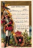 1 PC Tolstoi RUSSIA  4 Trade Cards Pub Chant Impér Russe Cigarette Card Flag SILK Choc Colosal Santander Calendar 1881 - Autres