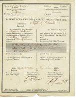 Droit De Patente Pour L'an 1842 Comme Marchand De Bois , Cabaretier Chapelle Lez Herlaimont - Historical Documents