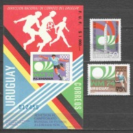 URUGUAY 1974 Mi 1302-1304 MNH SOCCER FUSSBAL - World Cup