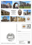 Tarjeta Postal Prefranqueada: Mérida, Ciudad Patrimonio De La Humanidad Con Matasellos Turístico- Tarifa A - Interi Postali