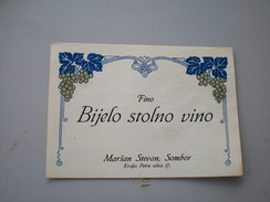 Sombor Zombor Fino Bijelo Stolno Vino  Marsan Stevan - Labels