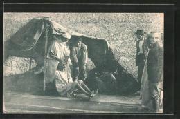 AK Einwohner Eines Arabischen Dorfes Beim Zahnarzt - Santé