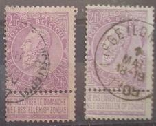 BELGIQUE - N° 66/67  Oblitérés - Belle Cote - 1893-1900 Thin Beard