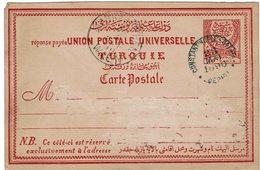 CIRC9- TURQUIE CARTE POSTALE AU DEPART DE CONSTANTINOPLE MAI 1890 - Brieven En Documenten
