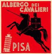 """D5616 """"ALBERGO DEI CAVALIERI  - PISA - ITALIA"""" ETICHETTA ORIGINALE - ORIGINAL LABEL - Adesivi Di Alberghi"""