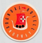 "D5618 ""SOGNDAL HOTEL - NORWAY"" ETICHETTA ORIGINALE - ORIGINAL LABEL - Adesivi Di Alberghi"