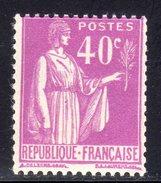 N° 281a Neuf** Avec Variété (Paix) Signé CALVES: COTE= 130 Euros !!! - 1932-39 Paix