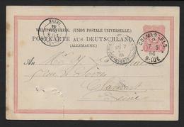 Haut Rhin - Cachet Allemand  De COLMAR 2 - Marcophilie (Lettres)