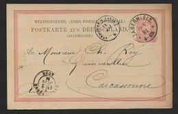 Bas Rhin - Cachet Allemand  De ZABERN - Postmark Collection (Covers)