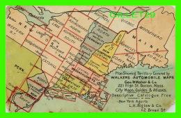 CARTE GÉOGRAPHIQUE - PLAN SHOWING TERRITORY COVERED BY  WALKERS AUTOMOBILE MAPS - - Cartes Géographiques