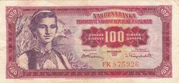 Yugoslavia , FNRJ 100 Dinara 1955 - Yugoslavia