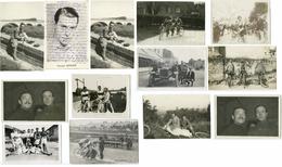 CYCLISME - 14 PHOTOS/CARTE PHOTO + CARTE ADHERENT VENANT DE LA FAMILLE CHOCQUE - Cycling