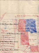 L ABERGEMENT DE VAREY HAMEAU DES PIERRES - PLAN MINUTE 50 X 33 CM - PAR SAUSSAC GEOMETRE A BOURG - AIN - FIN XIX EME - Cartes
