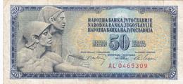 Yugoslavia , SFRJ  50  Dinara 1968 - Yugoslavia
