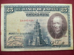 ESPAGNE Billet De 25 Pésétas 1928 - [ 1] …-1931 : Eerste Biljeten (Banco De España)