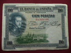 ESPAGNE Billet De 100 Pésétas 1925 - [ 1] …-1931 : First Banknotes (Banco De España)