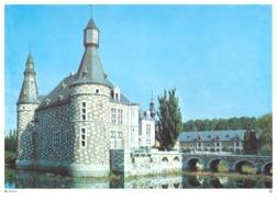 Photo ( Format A4) Du Château De JEHAY (Huy )- Fiche Didactique Au Verso - Edition ELF Carburant - Sammlungen