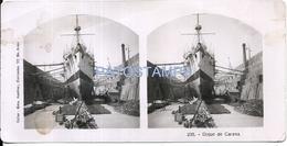 68520 ARGENTINA BUENOS AIRES DIQUE DE CARENA & SHIP SPOTTED PHOTO FOTO STEREOVIEW NO POSTAL TYPE POSTCARD - Stereoscopio
