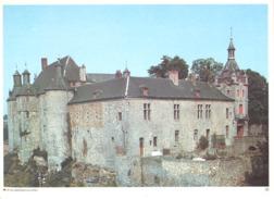 Photo ( Format A4) Du Château De ECAUSSINNES - LALAING ( Soignies)- Fiche Didactique Au Verso - Edition ELF Carburant - Sammlungen