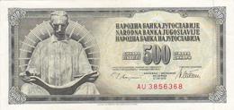 Yugoslavia , SFRJ  500  Dinara 1978 - Yugoslavia
