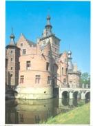 Photo ( Format A4) Du Château D'OOIDONK ( Deinze )  Fiche Didactique Au Verso - Edition ELF Carburant - Sammlungen