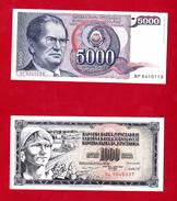 Yugoslavia , SFRJ  1000 & 5000  Dinara 1978 - Yugoslavia