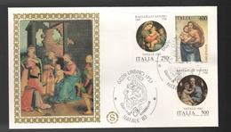 FDC Italia 1983 Filagrano Natale Da Lire 250 + 400 + 500 - FDC