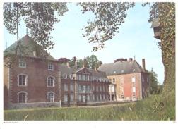 Photo ( Format A4) Du Château De FRANC - WARET ( Andenne )  -  Fiche Didactique Au Verso - Edition ELF Carburant - Sammlungen