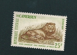 N° 351A  Animaux - Lion    Timbre Nord Cameroun (1962) Parc National De  Waza Neuf 25FR - Camerun (1960-...)