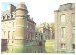 Photo ( Format A4) Du Château De BELOEIL ( Ath / Leuze) -  Fiche Didactique Au Verso - Edition ELF Carburant - Sammlungen