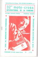 PROGRAMME OFFICIEL-1973- 32 ème MOTO CROSS INTERNATIONAL DE Marche-en Famenne-participants-Joël Robert-G.Rahier..... - Programma's