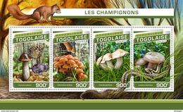 TOGO 2016 - Mushrooms, Squirrel. Official Issue. - Autres
