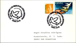1995 Girona. Sobre Conmemorativo. Reconocimiento A Las Fuerzas De Paz En Bosnia. Paloma. Dove - Militaria