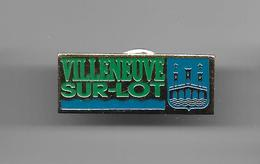 PINS VILLE VILLENEUVE SUR LOT CP 47300 LOT ET GARONNE BLASON ARMOIRIES / 33NAT - Ciudades
