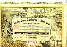 TITRE ACTION -  SISALERAIES ET CARBURANT AFRACAINS  (30 COUPONS) - Pétrole