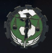 Ancien Insigne émaillé  Train FTEO Forces Terrestres D' Extrême Orient -- Fabrication Drago  Ins5 - Marine