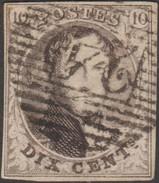Belgique 1851 COB 6, 10 C Médaillon Filigrane LL. P 24 Bruxelles - 1851-1857 Médaillons (6/8)