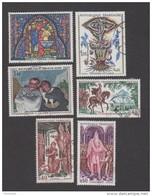 France Oblitérés - N° 1492 à 1497 - Dont Ste Chapelle, Lurçat, Daumier, Vercingétorix, Clovis, Charlemagne - 1966 - TB - France