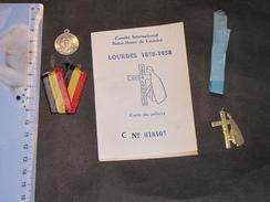 LOURDES COMITE INTERNATIONAL NOTRE DAME - 1858/1958 - CARTE DU PELERIN - Vieux Papiers