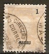 MACAO  /  MACAU     -    1898.    Y&T N° 79 Oblitéré - Macao
