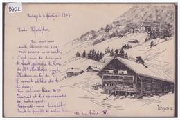 DISTRICT D'AIGLE - LEYSIN - CARTE DESSINEE A LA MAIN - TB - VD Vaud